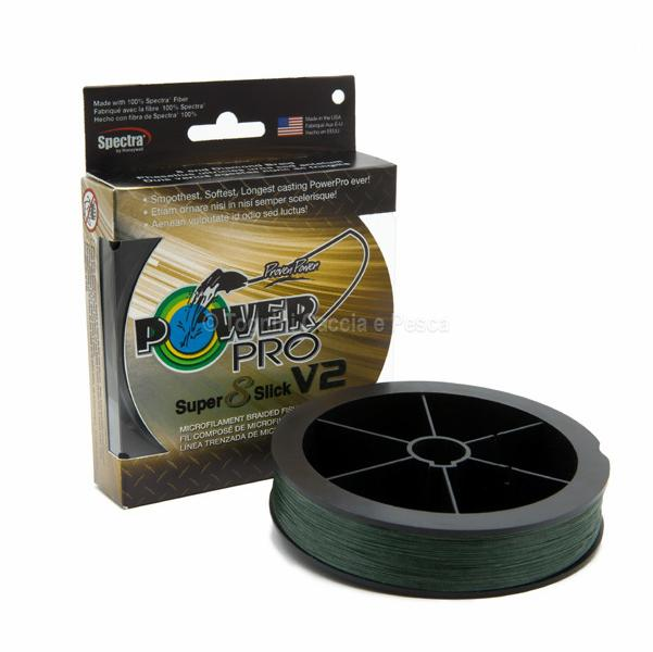 POWER PRO SUPER 8 SLICK V2 MOSS GREEN 135M.