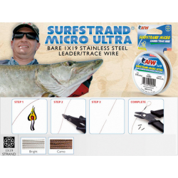 AMERICAN FISHINGN WIRE SURFSTRAND MICRO ULTRA 1x19