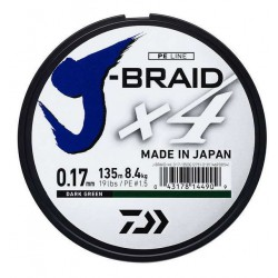 DAIWA J-BRAID X4 DARK GREEN 135M
