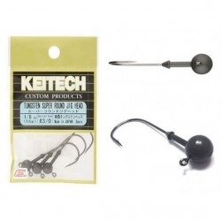 KEITECH TUNGSTEN SUPER ROUND JIG HEAD