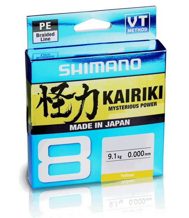 SHIMANO KAIRIKI 8 VT 150MT. YELLOW