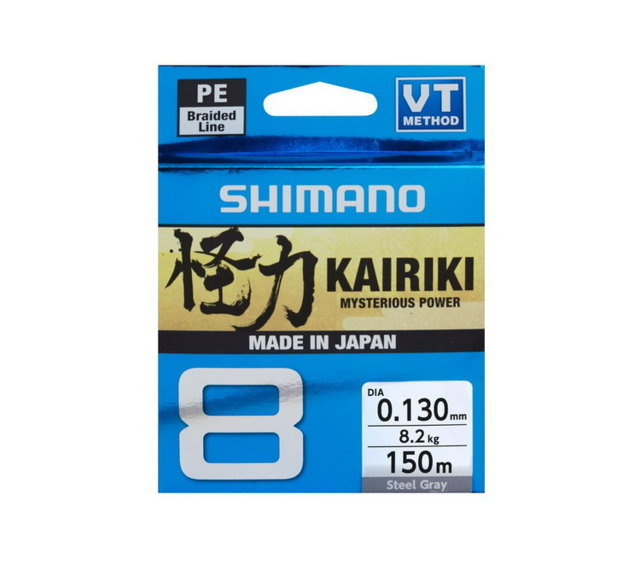 SHIMANO KAIRIKI 8 VT 150MT. STEEL GREY
