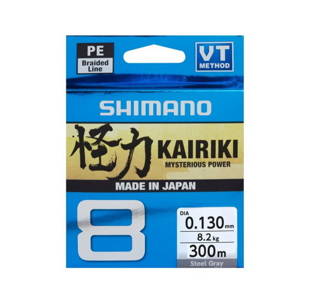 SHIMANO KAIRIKI 8 VT 300MT. STEEL GREY
