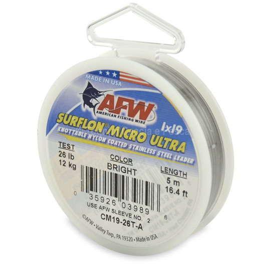 American fishing wire surflon micro ultra 1x19 cavetti for American fishing wire